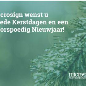 Kerst en Nieuwjaarwens Microsign